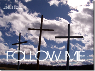 three crosses follow me