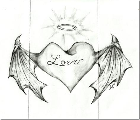 Harrisons heart with wings