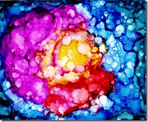 alcohol ink scan beauty in the broken