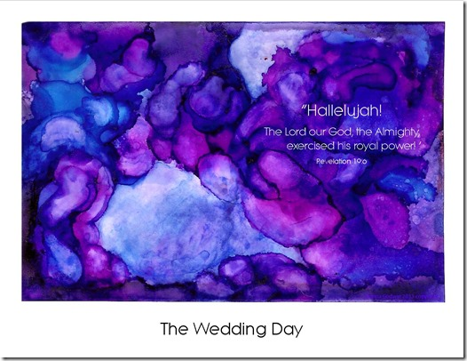 Alcohol ink wedding day